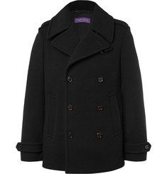 Ralph Lauren Purple Label Warrington Slim-Fit Double-Breasted Wool and Cashmere-Blend Peacoat