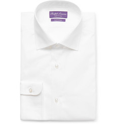 Ralph Lauren Purple Label White Aston Cotton-Poplin Shirt