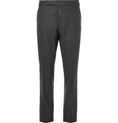 Ralph Lauren Purple Label Dark-Grey Gregory Wool Suit Trousers