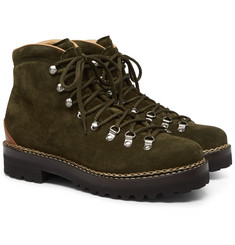 Ralph Lauren Purple Label Fidel Suede Boots