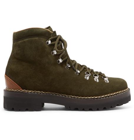 Ralph Purple Lauren Fidel Boots Suede Label afOwrqxa