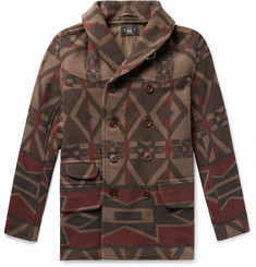 RRL - Ramsey Shawl-Collar Double-Breasted Printed Wool-Blend Coat