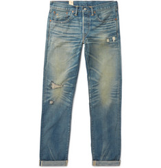 RRL Ridgway Slim-Fit Distressed Selvedge Denim Jeans