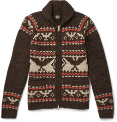 RRL - Intarsia Wool, Cotton, Alpaca, Silk and Linen-Blend Zip-Up Cardigan