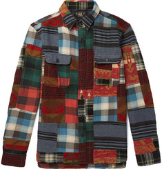 RRL Matlock Patchwork Cotton and Wool-Blend Flannel Shirt