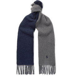 Polo Ralph Lauren Reversible Fringed Virgin Wool-Blend Scarf