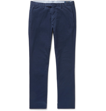 Slim-fit Stretch-cotton Twill Chinos