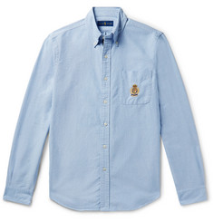 폴로 랄프로렌 셔츠 Polo Ralph Lauren Button-Down Collar Embroidered Cotton Oxford Shirt,Light blue