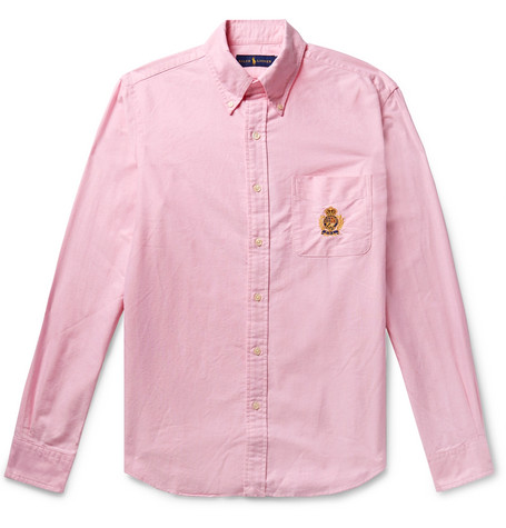 aa08efe5 Polo Ralph Lauren - Button-Down Collar Embroidered Cotton Oxford ...