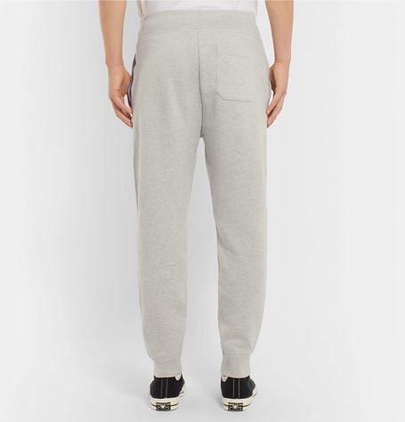 Tapered Logo Appliquéd Mélange Fleece Back Cotton Blend Jersey Sweatpants by Polo Ralph Lauren