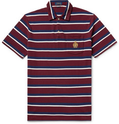 Polo Ralph Lauren Logo-Embroidered Striped Cotton-Piqué Polo Shirt