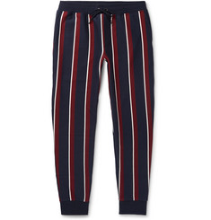 Polo Ralph Lauren Tapered Striped Cotton-Blend Jersey Sweatpants