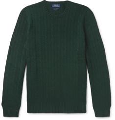 폴로 랄프로렌 Polo Ralph Lauren Cable-Knit Cashmere Sweater,Dark green