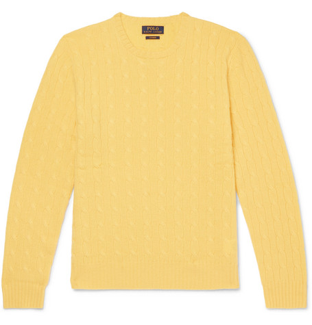 b6fdaaea35b4a Polo Ralph Lauren - Slim-Fit Cable-Knit Cashmere Sweater