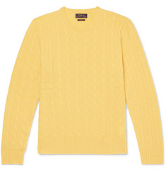 Polo Ralph Lauren Slim-Fit Cable-Knit Cashmere Sweater