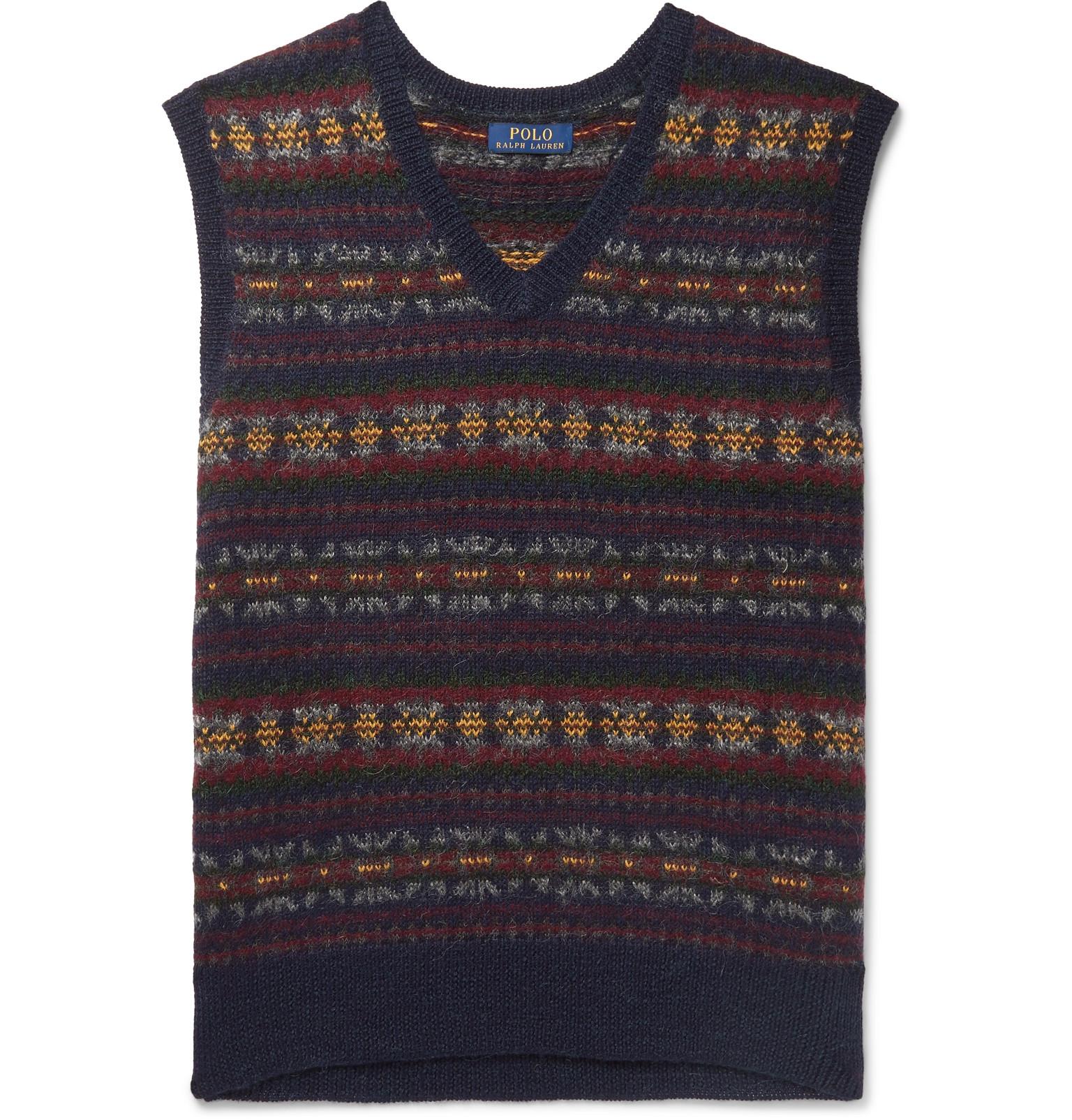 12f8357a2 Polo Ralph Lauren - Fair Isle Wool-Blend Jacquard Sweater Vest