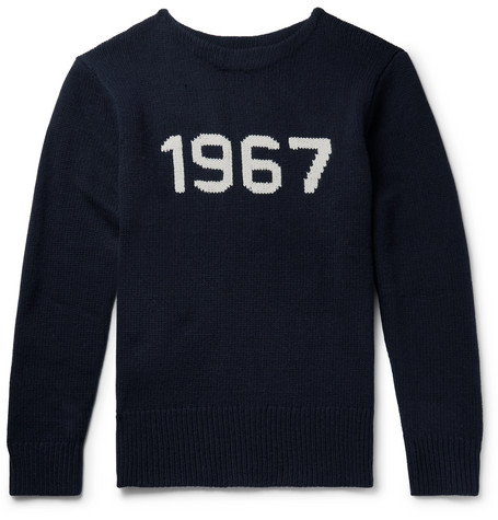 Intarsia Wool Sweater by Polo Ralph Lauren