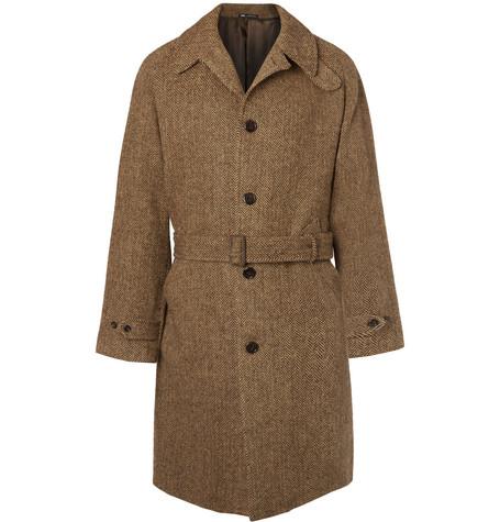 Polo Ralph Lauren – Herringbone Wool Overcoat – Brown