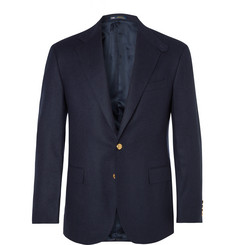 Polo Ralph Lauren Navy Slim-Fit Brushed-Wool Twill Blazer
