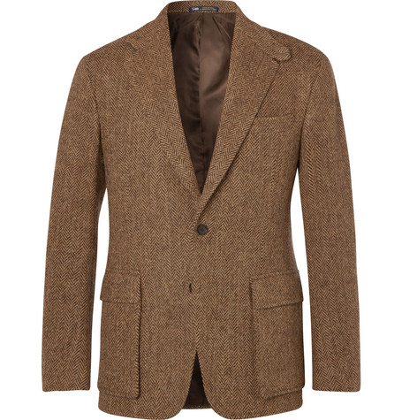 886cedea77d Polo Ralph Lauren - Tan Slim-Fit Herringbone Wool Suit Jacket