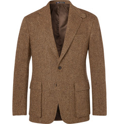 Polo Ralph Lauren Tan Slim-Fit Herringbone Wool Suit Jacket