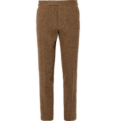 Polo Ralph Lauren Tan Slim-Fit Herringbone Wool Suit Trousers