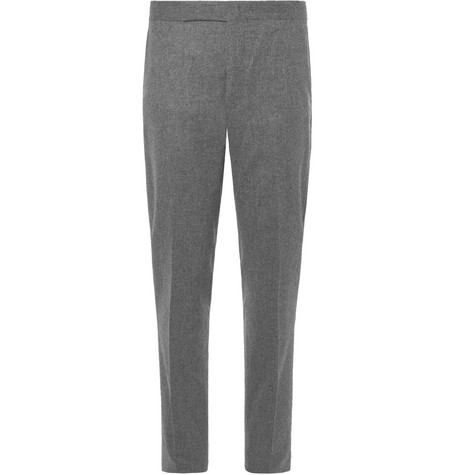 Slim Fit Tapered Wool Flannel Trousers by Polo Ralph Lauren