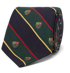 Polo Ralph Lauren - 8cm Madison Embroidered Striped Wool and Silk-Blend Tie