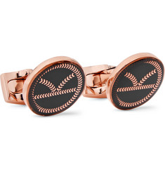 Kingsman + Deakin & Francis Rose Gold-Tone and Resin Cufflinks