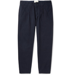 Folk Assembly Tapered Pleated Cotton Trousers