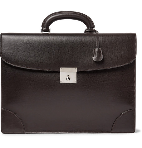 Cross Grain Leather Briefcase by Valextra
