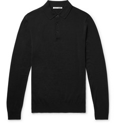 SALLE PRIVÉE Isaac Slim-Fit Merino Wool Polo Shirt