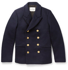 SALLE PRIVÉE Daven Double-Breasted Virgin Wool-Blend Peacoat