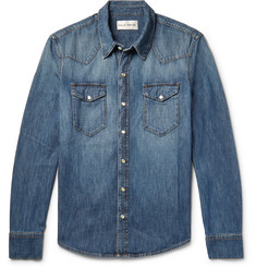SALLE PRIVÉE - Rohe Slim-Fit Washed-Denim Western Shirt