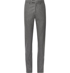 SALLE PRIVÉE - Anthracite Rocco Slim-Fit Mélange Wool-Flannel Suit Trousers