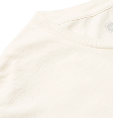 Pelican Garment Dyed Cotton Jersey T Shirt by Mollusk
