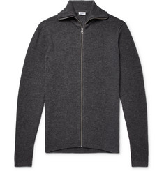 Schiesser - Jonah Slim-Fit Wool and Cashmere-Blend Zip-Up Cardigan