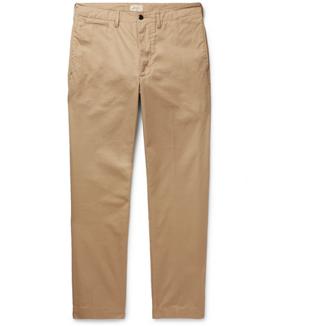 Dunabeste Tapered Cotton Twill Trousers by Bellerose