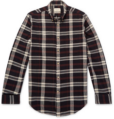 Bellerose - Flloyd Button-Down Collar Checked Cotton-Flannel Shirt