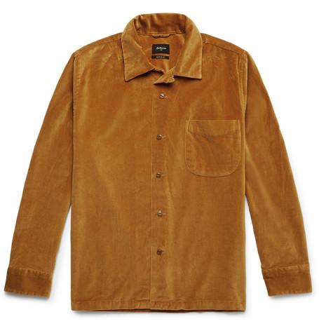 Zwart Cotton Velvet Overshirt by Bellerose