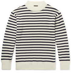 Bellerose Zwart Striped Wool Sweater