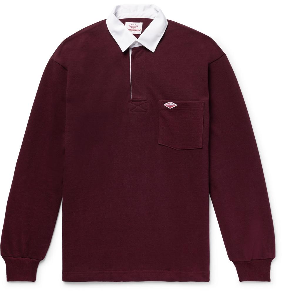 Cotton-jersey Polo Shirt - Burgundy