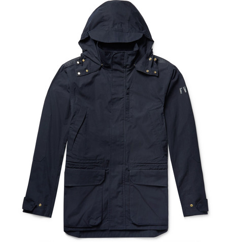 THE WORKERS CLUB Cotton-Canvas Hooded Jacket in Navy
