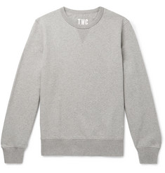The Workers Club Mélange Fleece-Back Stretch-Cotton Jersey Sweatshirt