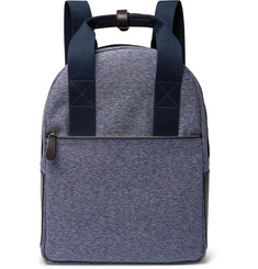 The Workers Club - Leather-Trimmed Canvas Backpack
