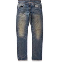 RRL Slim-Fit Distressed Denim Jeans