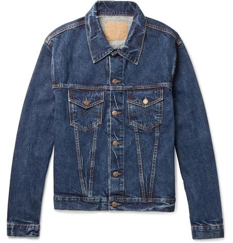 Slim Fit Distressed Denim Trucker Jacket by Rrl