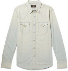 RRL Buffalo Slim-Fit Washed-Denim Western Shirt