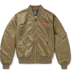 RRL Reversible Shell Bomber Jacket