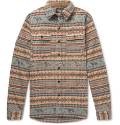RRL Fair Isle Brushed Cotton-Jacquard Overshirt